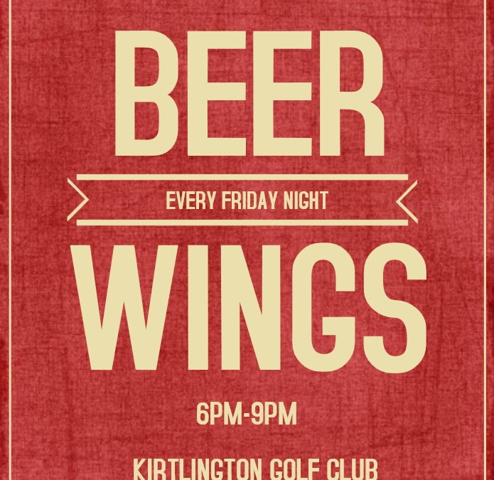 Beer and Wing Friday's
